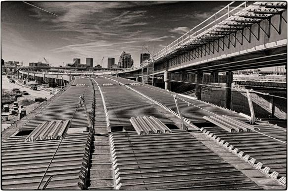 Road Deck in Place. B&W Version