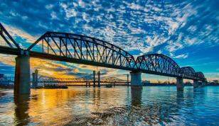 Sunset on the Downtown Span in HDR #3