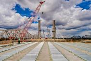 Looking north from the Kentucky approach to the Downtown Span of the Ohio River Bridges Project. #2