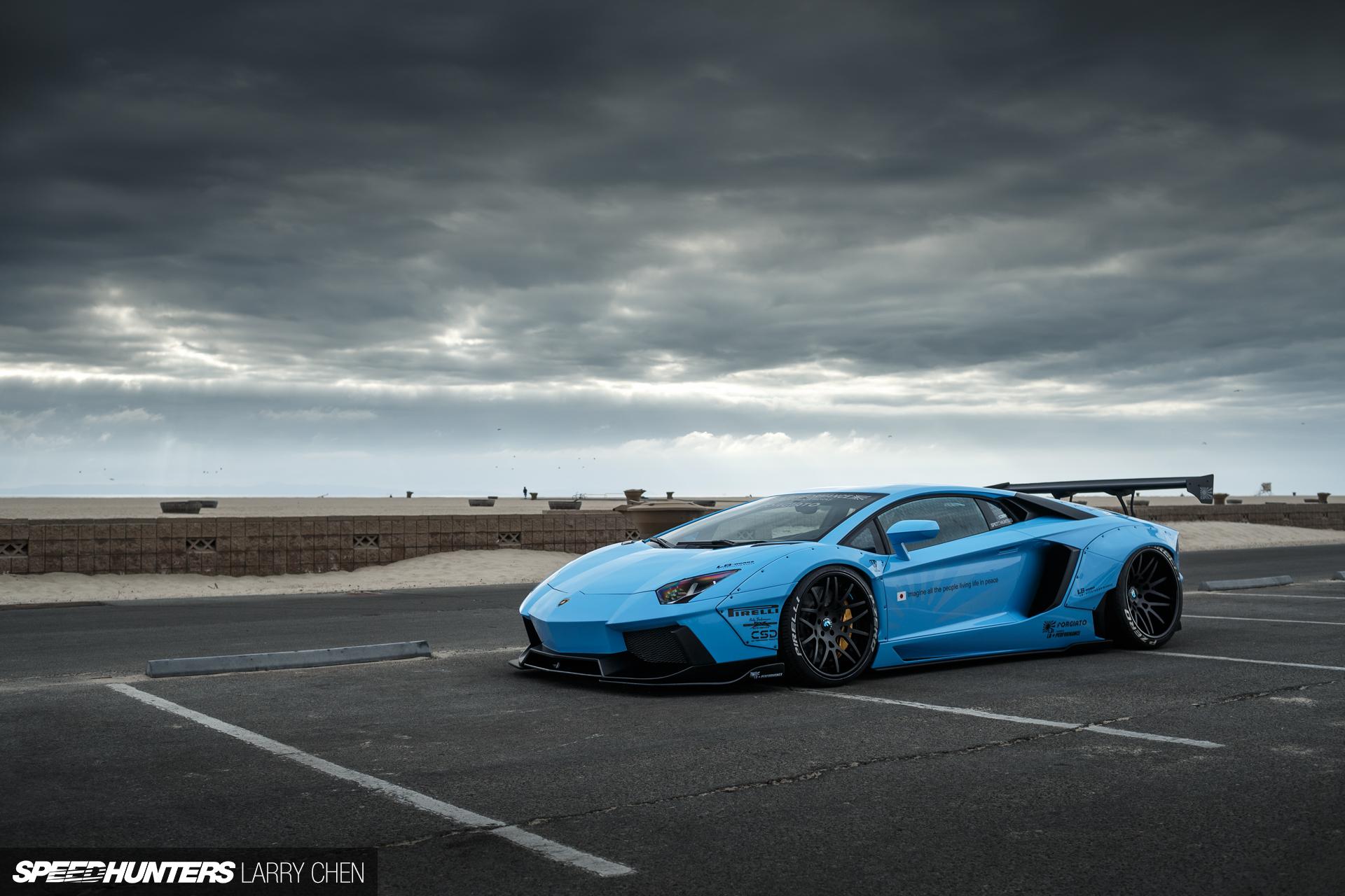 4k Wallpaper Muscle Car Blue Shark Attack Lb Works Aventador Speedhunters