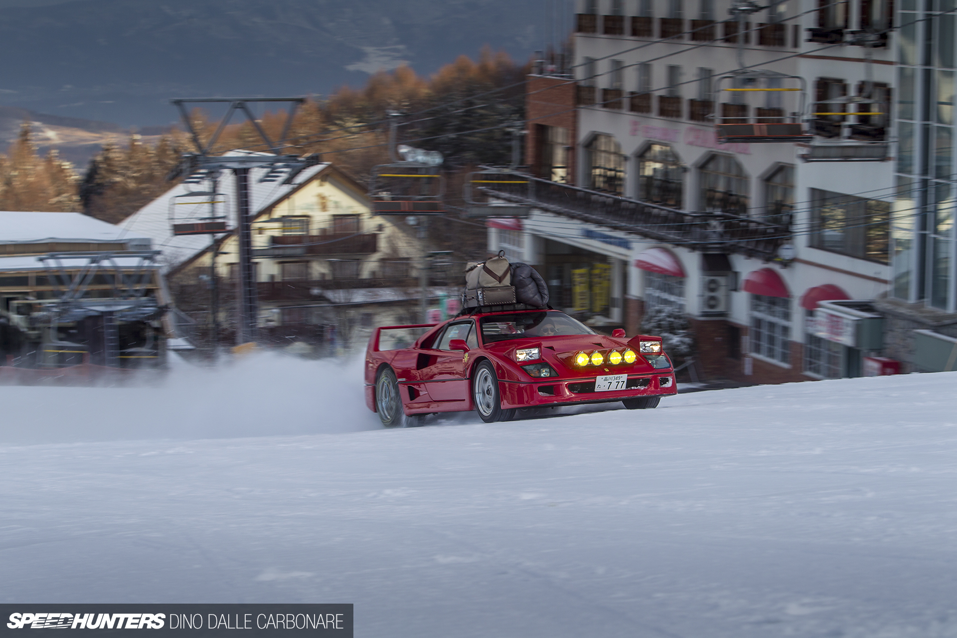 Drifting Muscle Cars Wallpaper Fun In The Snow With A Ferrari F40 Speedhunters