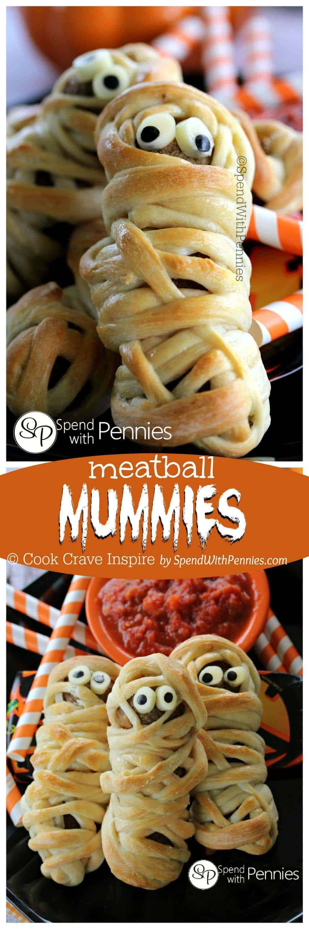 Halloween Kinderparty Buffet Meatball Mummies Spend With Pennies