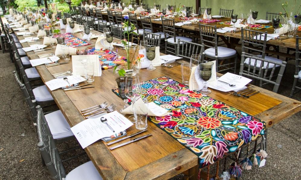 Peruvian textiles & Ikebana flower arrangents