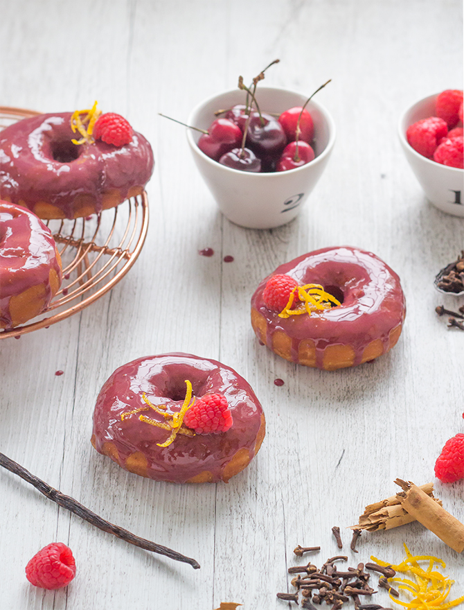 Mulled Wine Glazed Doughnuts Christmas in July