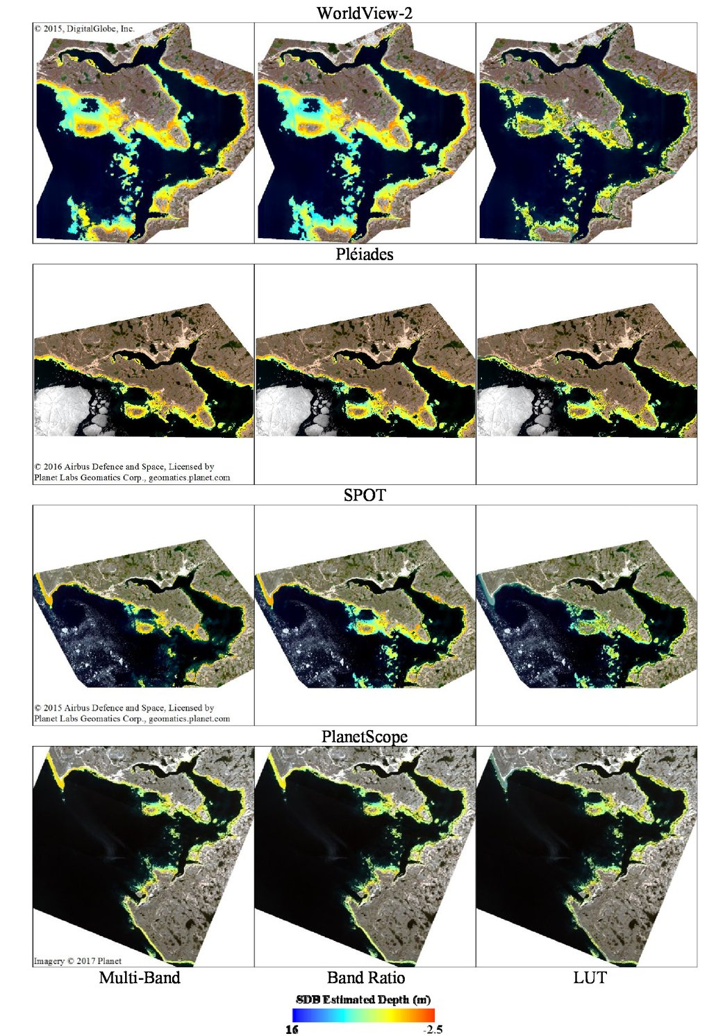 Sdb Creation Satellite Derived Bathymetry For Arctic Charting A Review Of