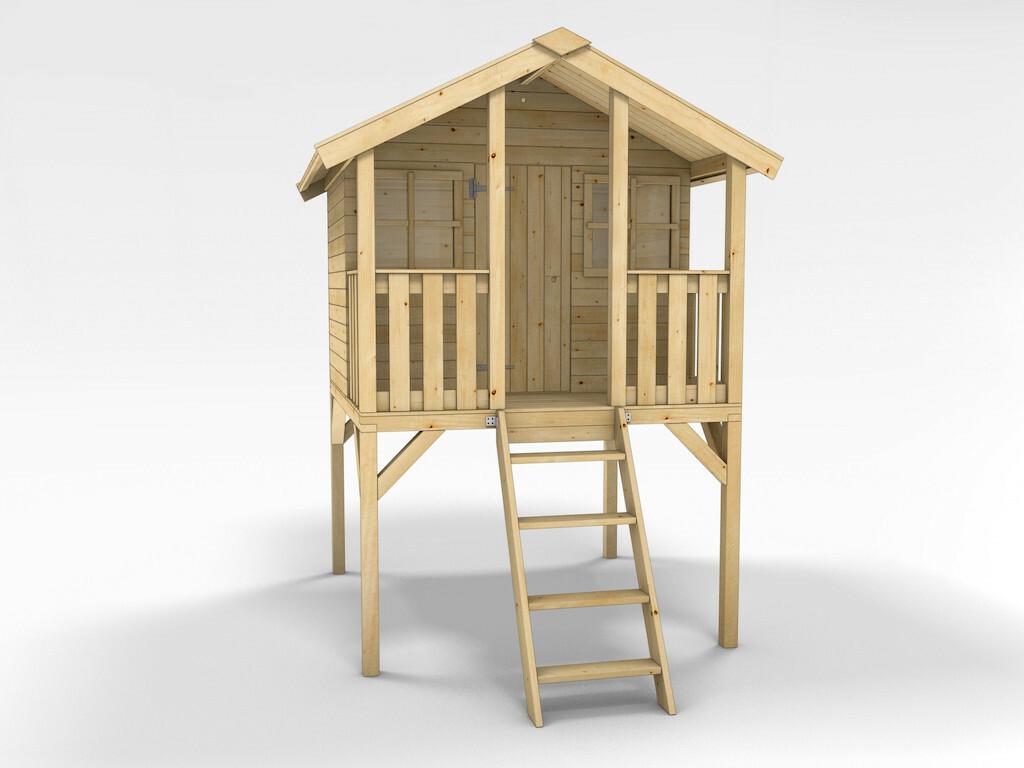 Stelzenhaus Tobi Mit Rutsche Kinderspielhaus Holz Bauwagen Bvrao