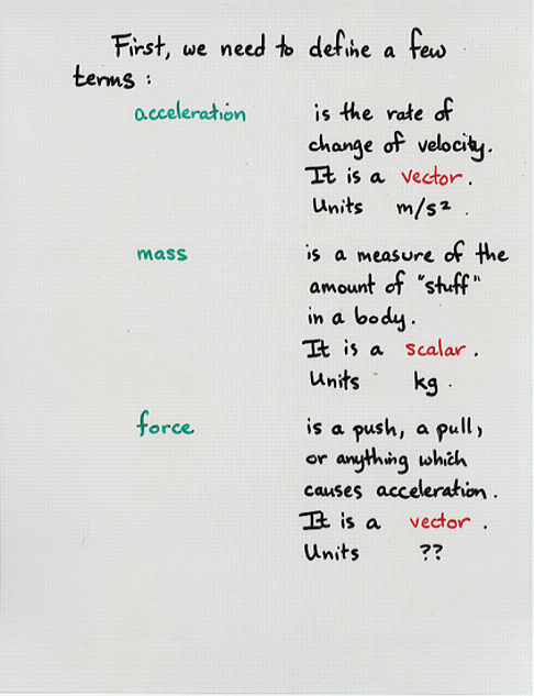Force Newton\u0027s First and Second Laws
