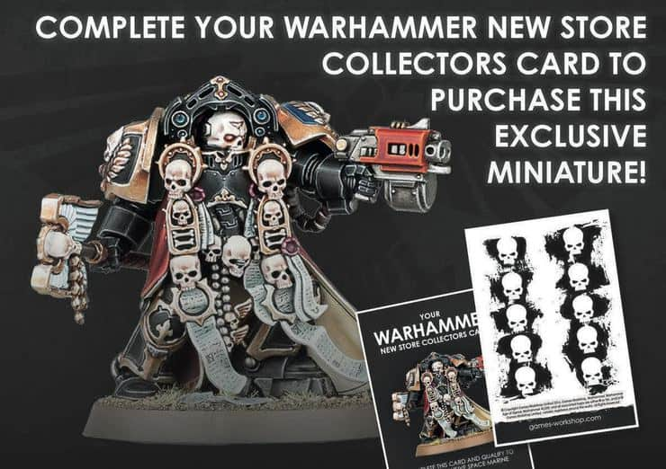 Previous exclusive miniatures from gw store events