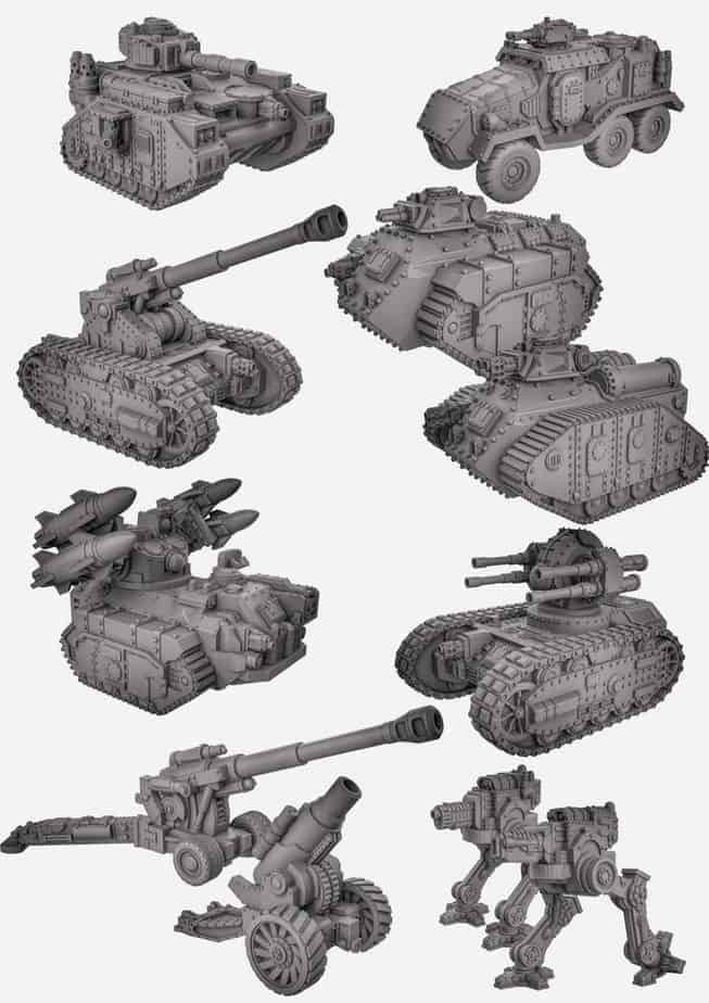 3D Printable Sci-Fi Tanks Kickstarter Fully Funded - Spikey Bits