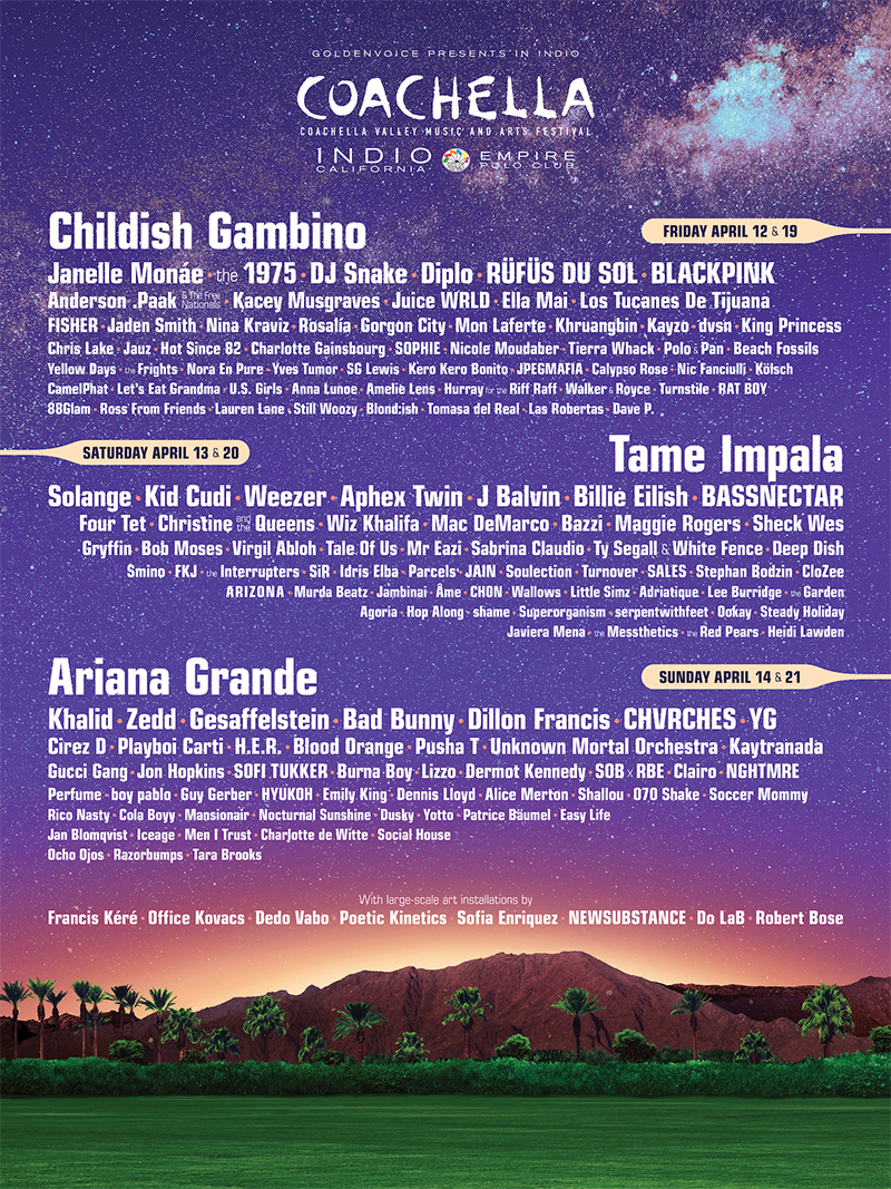 Spill News Coachella Valley Music And Arts Festival Announces 2019 Lineup The Spill Magazine