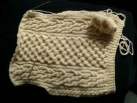 heavyweight Aran vest-to-be