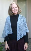 Ann in her new Peace of Mind shawl