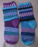 deliberately mismatched socks in cotton