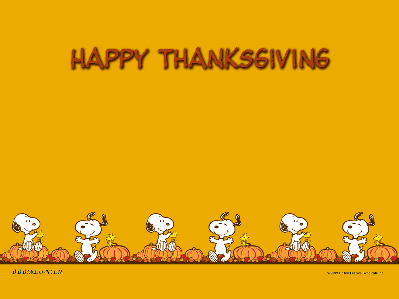 Snoopy Fall Wallpaper Happy Thanksgiving From My Family To Yours Spin Sucks