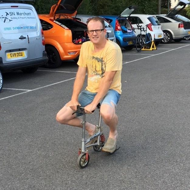 Andy Branson (Ashford Wheelers) unvails his new TT machine for the 2017 Season