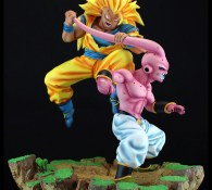 Son Goku Super Saiyajin 3 vs  Buu