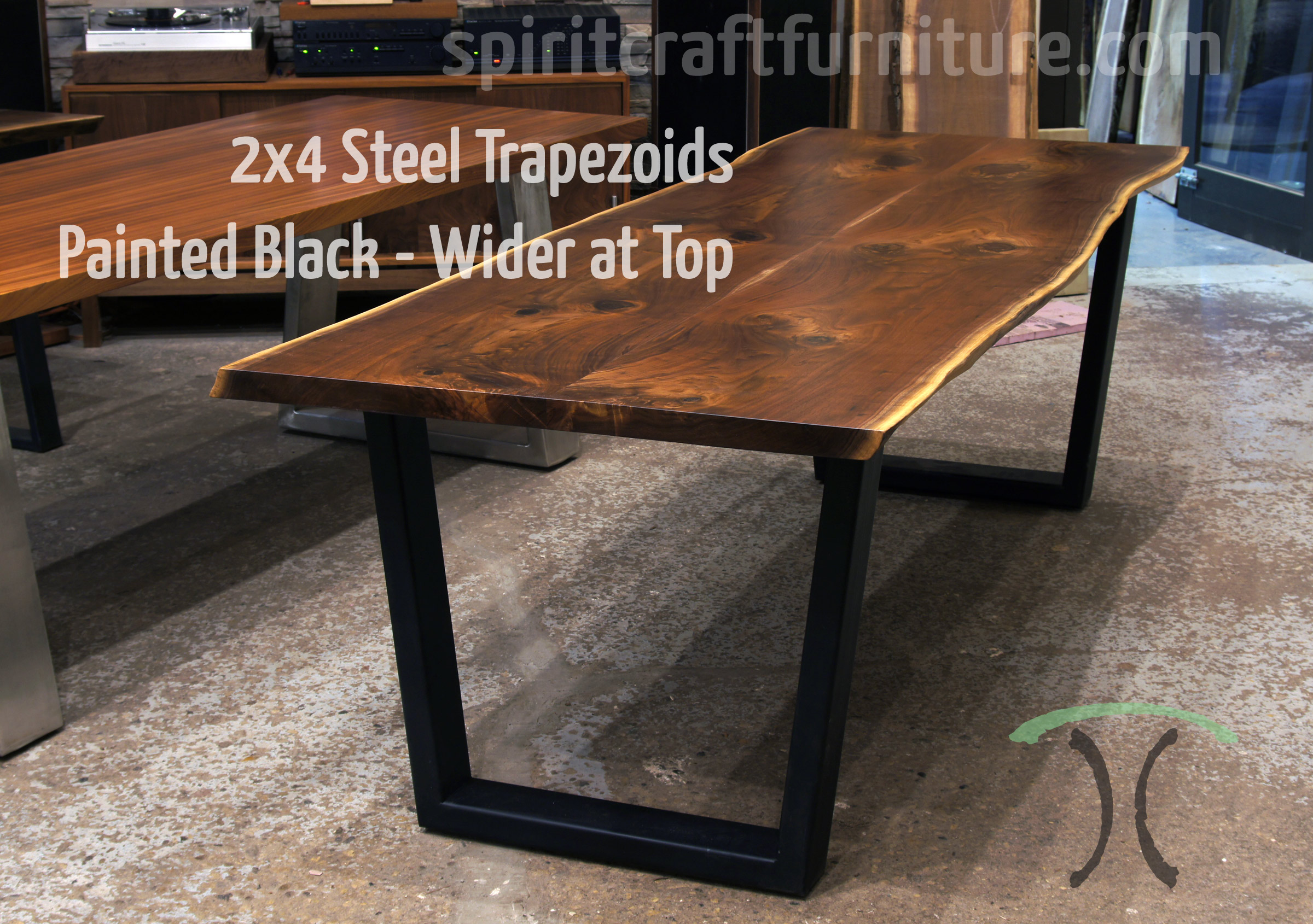 Metal Table Table Legs And Bases For Hardwood Slab Table Tops