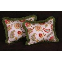 Jacobean Print - Pierre Frey Strie Velvet Designer Pillows