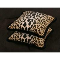 Stroheim Leopard Print Velvet 20 in Decorative Designer ...