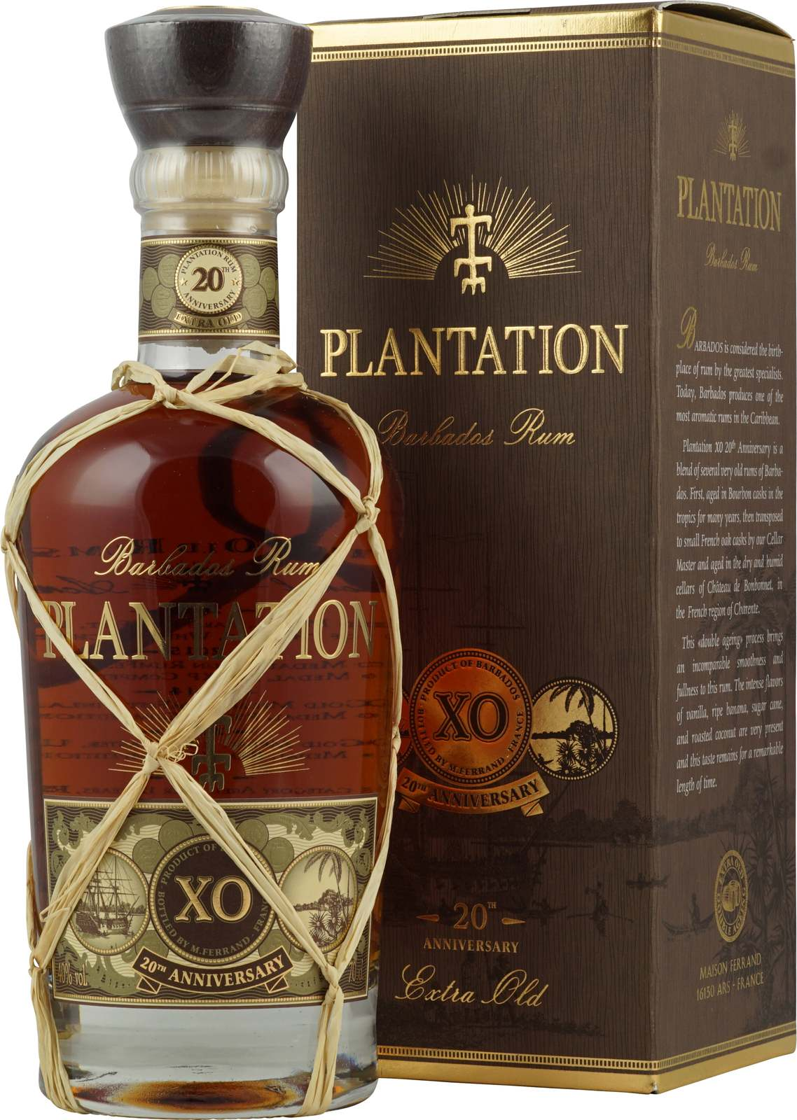 Plantation Barbados Extra Old 20th Anniversary Rum Plantation Barbados Extra Old 20th Anniversary Mit 7