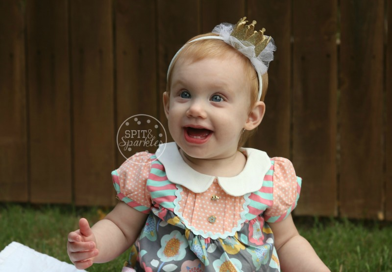 Harper's first birthday, Spit and Sparkles Blog, third baby, little pumpkin, turning one