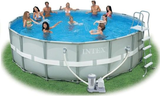 Pool Frame Rund Intex Ultra Metal Frame Round Metal Pool 16ft X 48""