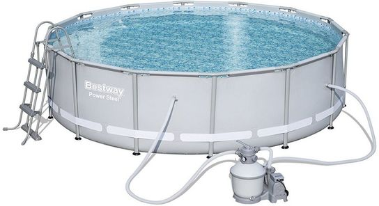 Pool Frame Rund Bestway Power Steel Metal Frame Round Pool With Sand