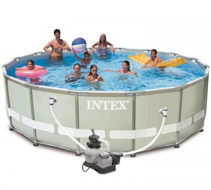 "Pool Frame Rund Intex Ultra Metal Frame Round Metal Pool 16ft X 48"" With"