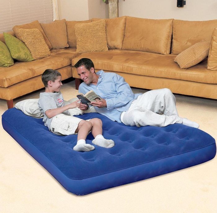"Schlafliege Klappbar Bestway Double Flocked Air Bed 75"" X 54"" - Air Beds And"