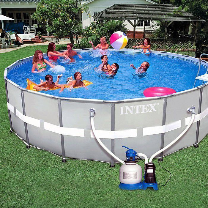 Pool Frame Rund Intex 18ft Ultra Metal Frame Round Saltwater Metal Pool