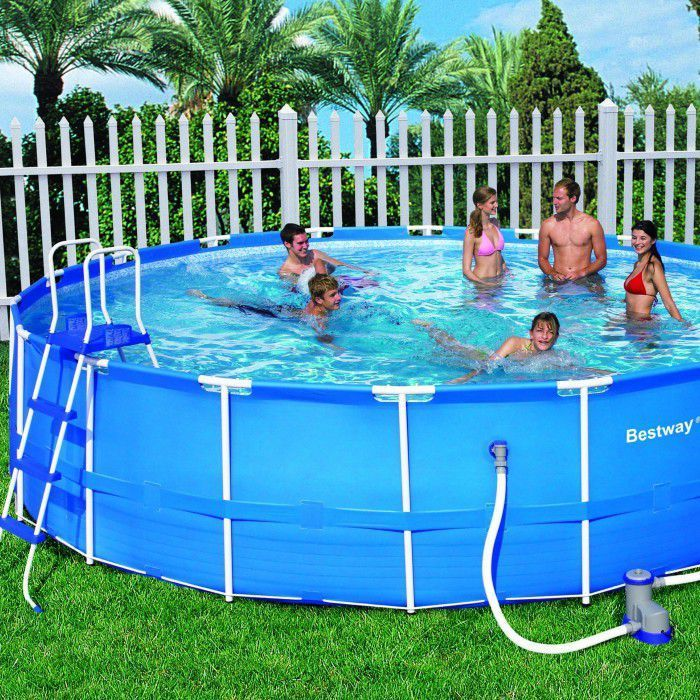 Pool Frame Rund Bestway Steel Pro Metal Frame Round Pool Package 18ft X 48""