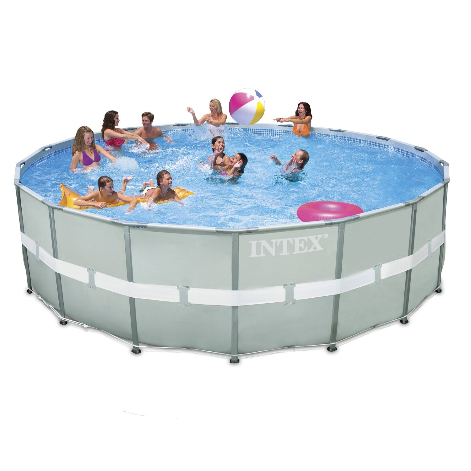 Pool Frame Rund Intex Ultra Frame Round Saltwater Metal Pool 18ft X 52