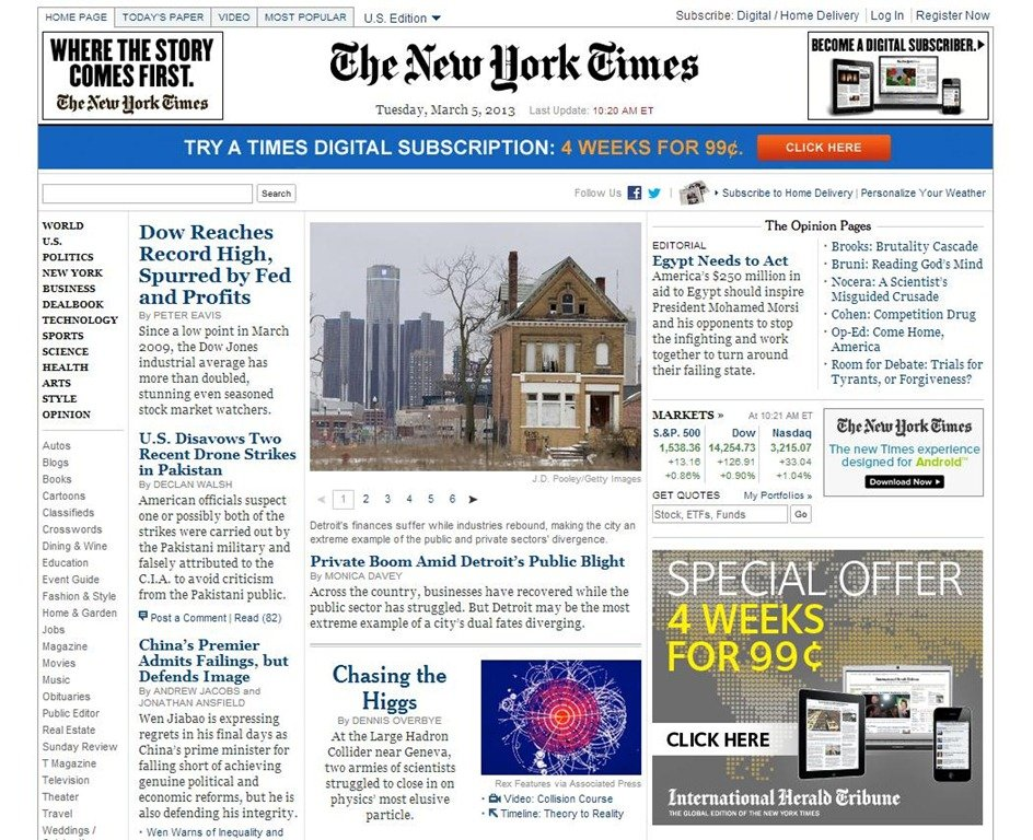 35 Awesome Newspaper Website Design Examples - online newspaper template