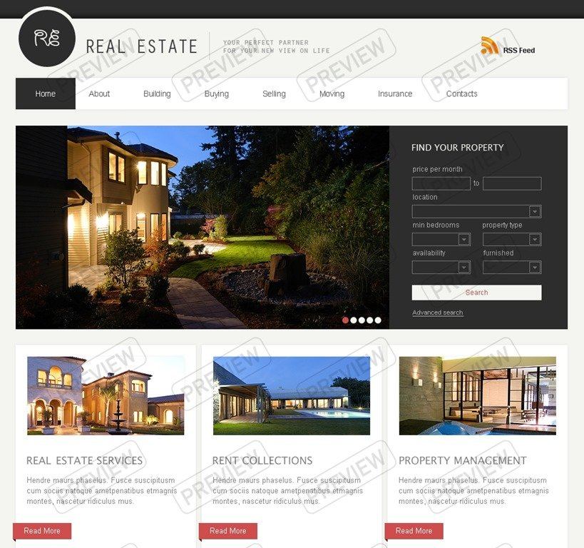 30+ Powerful Real Estate Website Templates - Want To Stand Out? - property management websites templates