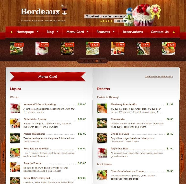 30+ WordPress Restaurant Menu Templates - Want To Get Famous? - restaurant table layout templates