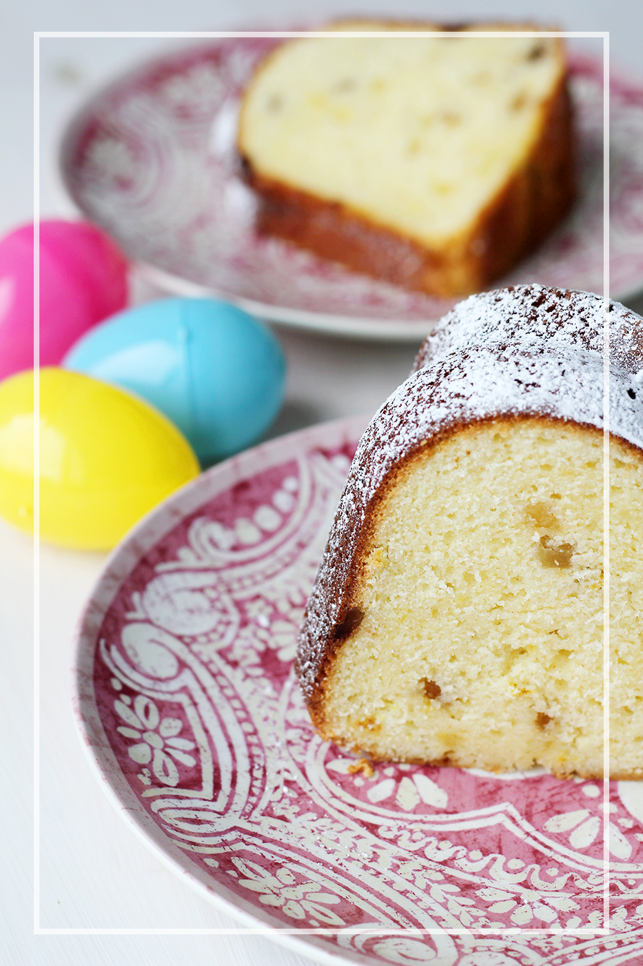 Happy Easter! Lemon Ginger Bundt Cake - Splash of Something