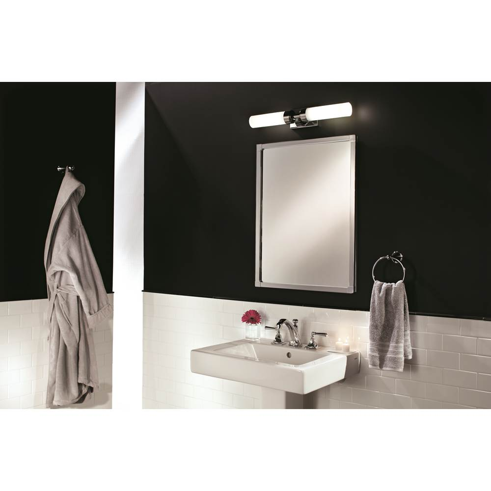 Decorative Brushed Nickel Mirror Glasscrafters Bathroom Mirrors Splashworks