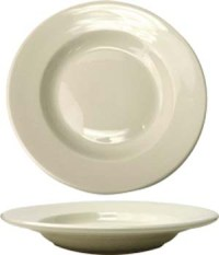 24 oz roma american white ivory rolled edge pasta bowl
