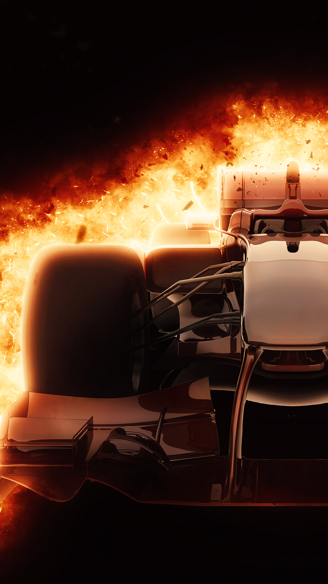 Car Wallpapers For Iphone 6 Burning F1 Car 1080 X 1920 Hd Phone Wallpaper