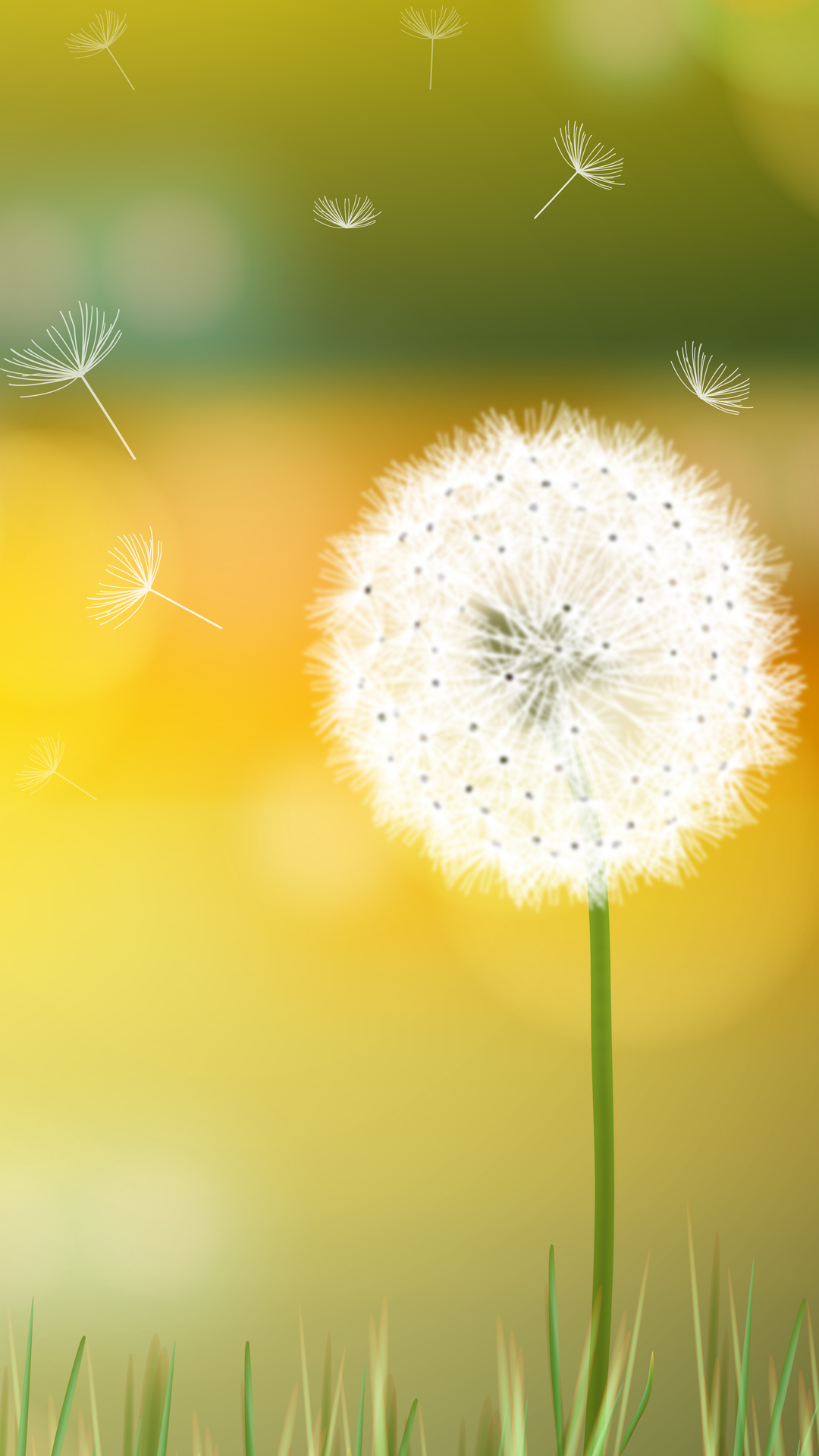 Weed Iphone 5 Wallpaper Dandelion Breeze Hd Wallpaper For Your Mobile Phone