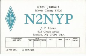 In the honor of John. P. Glenn N2NYP a dedicated club member now a silent key