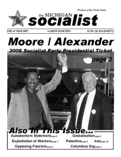 The Michigan Socialist – Year End 2007