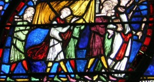 "Funeral procession from the ""Healing Window"" at Canterbury Cathedral/Wikipedia"