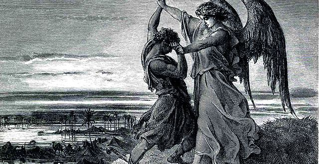 Gustave Doré, Jacob Wrestling with the Angel (1855)