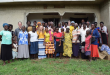 Samantha Briggs works with villagers in Uganda/Contributed