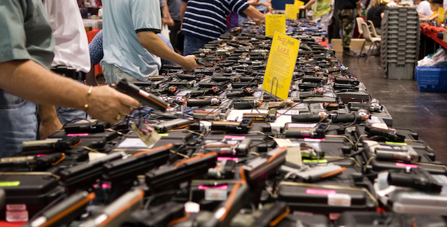 A gun show in Houston, Texas./Wikipedia photo by glasgows - Flickr