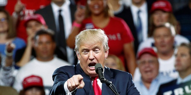 Republican U.S. Presidential candidate Donald Trump speaks at a campaign rally in Phoenix, Arizona, on June 18, 2016. Photo courtesy of REUTERS/Nancy Wiechec *Editors: This photo may only be republished with RNS-TRUMP-EVANGELICALS, originally transmitted on June 21, 2016.