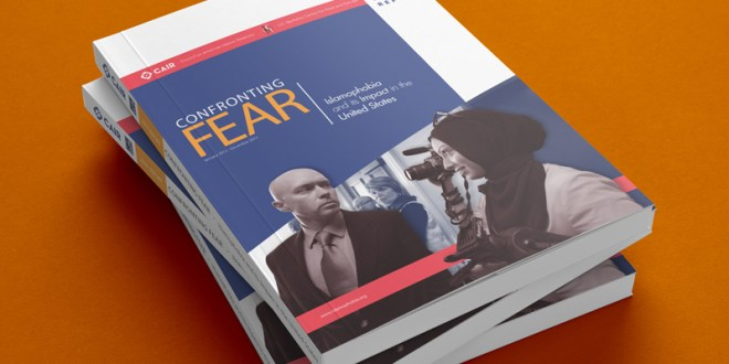 Copies of Confronting fear, a report examining Islamophobia and its impact in the U.S. Photo courtesy of CAIR