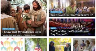 Screenshot of LDS.org