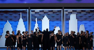 A choir performs prior to the start of the first day of the Democratic National Convention in Philadelphia, Pennsylvania, on July 25, 2016. Photo courtesy of REUTERS/Mike Segar